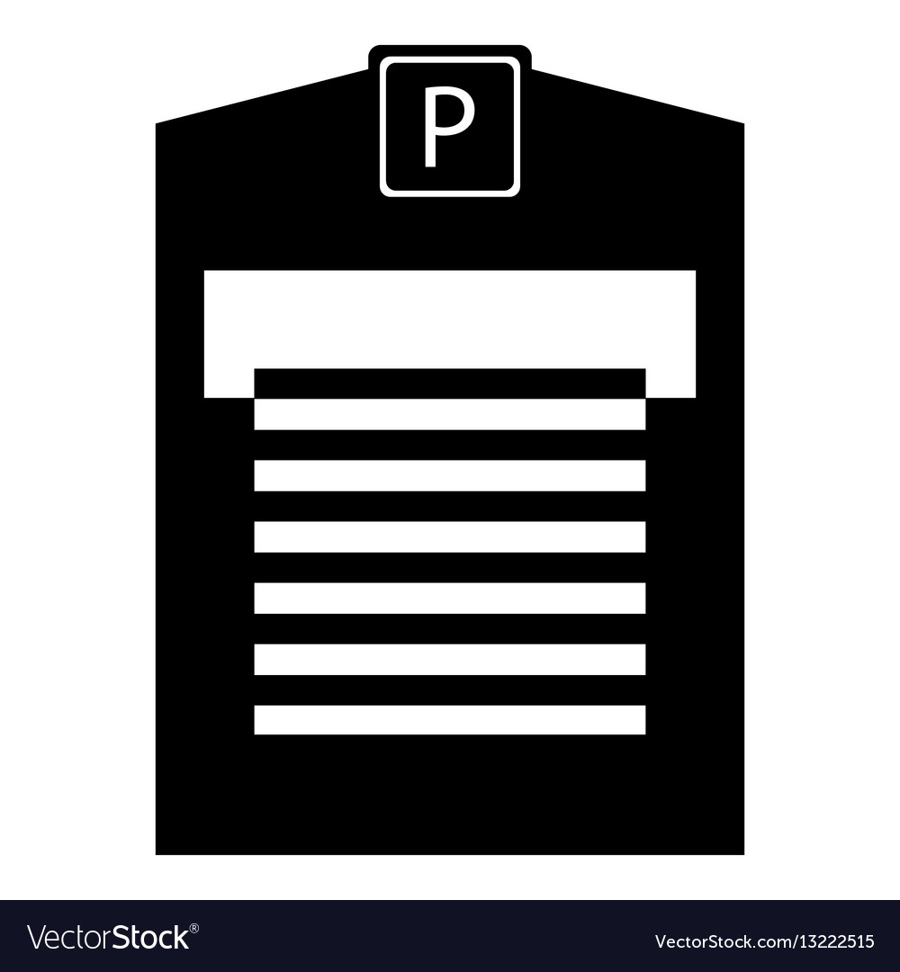 Parking garage icon simple style vector image