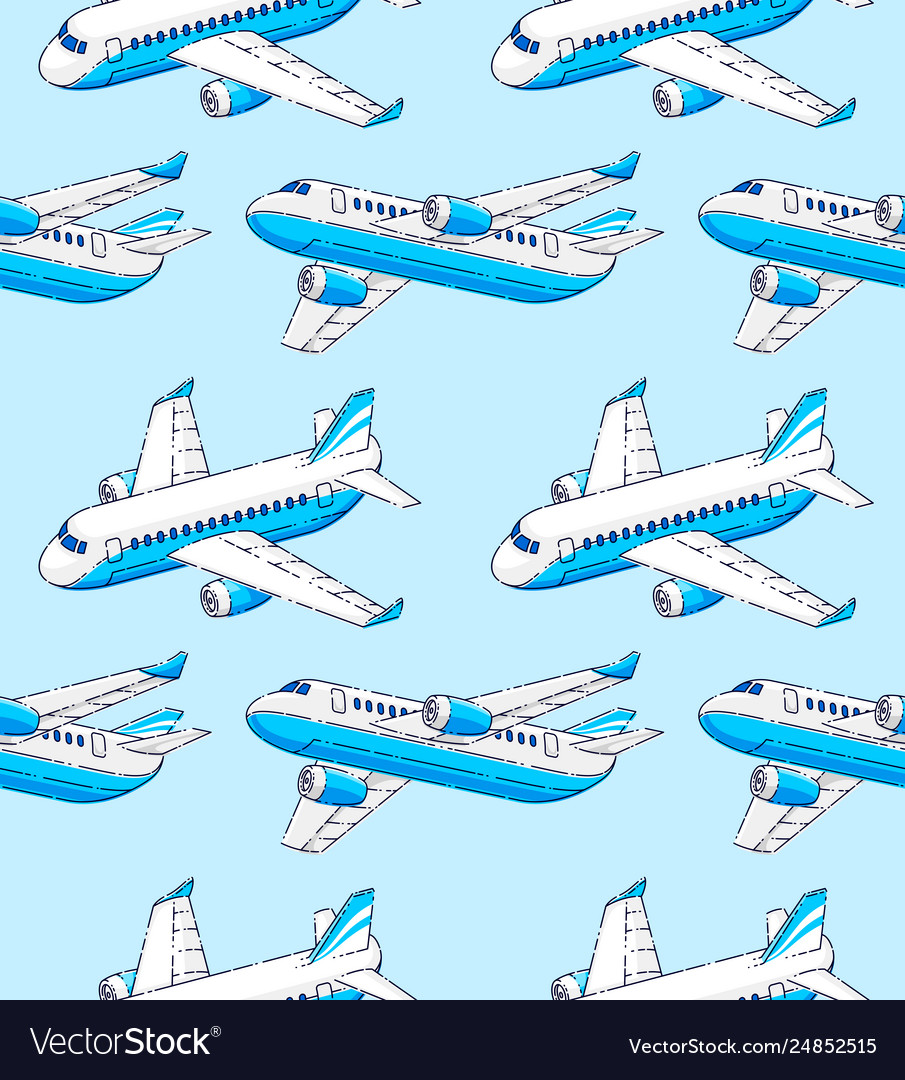 Planes seamless background airlines air travel