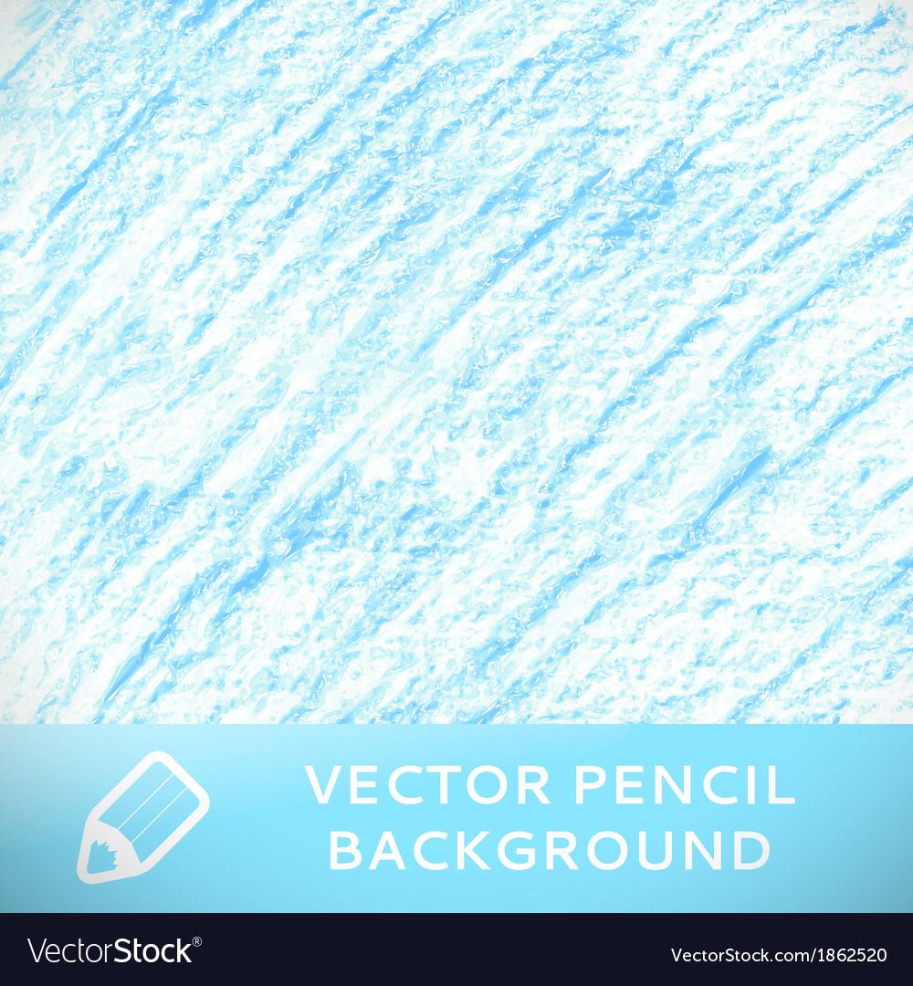 Blue pencil sketch background pattern vector image