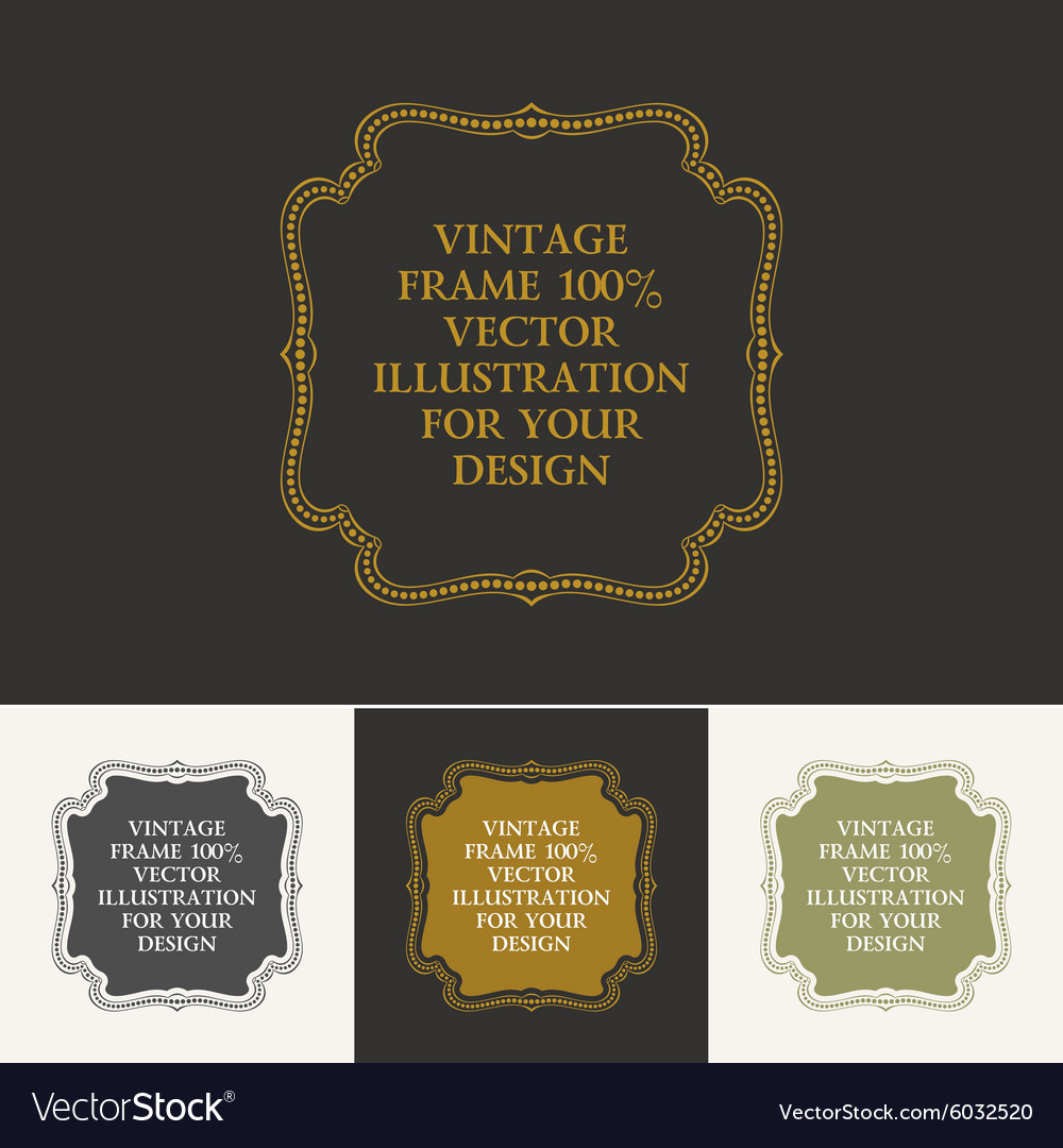 Calligraphic frame and page decoration vector image