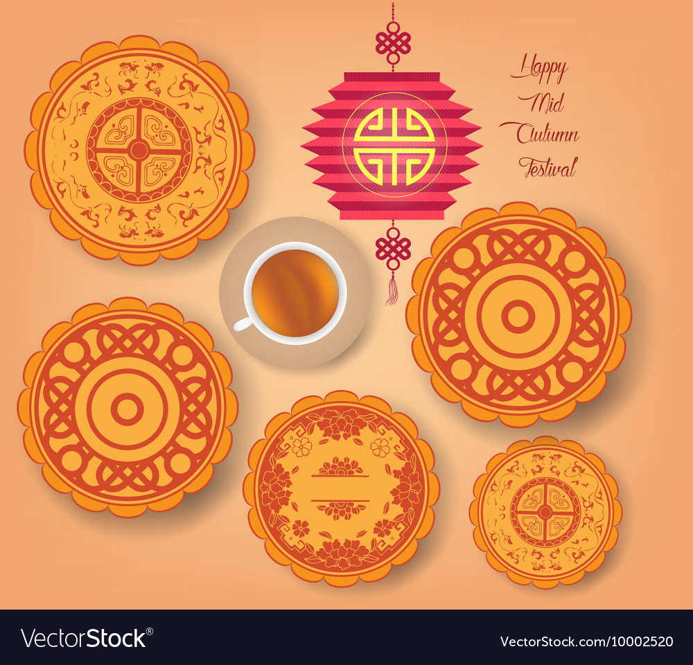 Chinese mid autumn festival background with