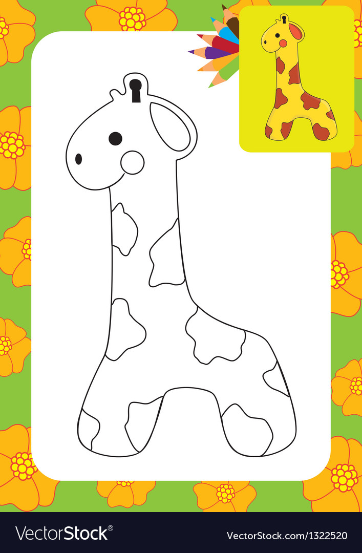 Cute giraffe toy