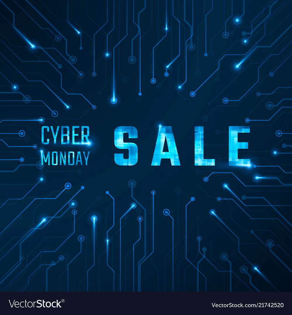 Cyber monday sale technology banner