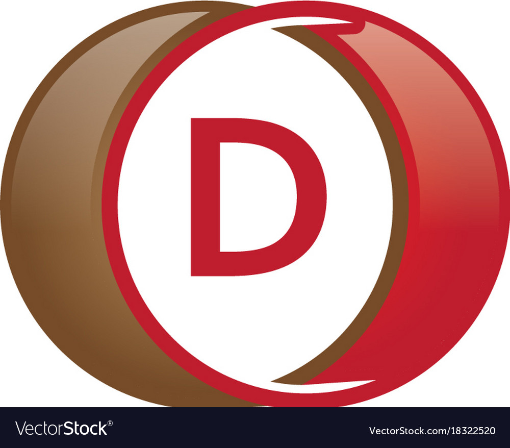 D letter circle logo