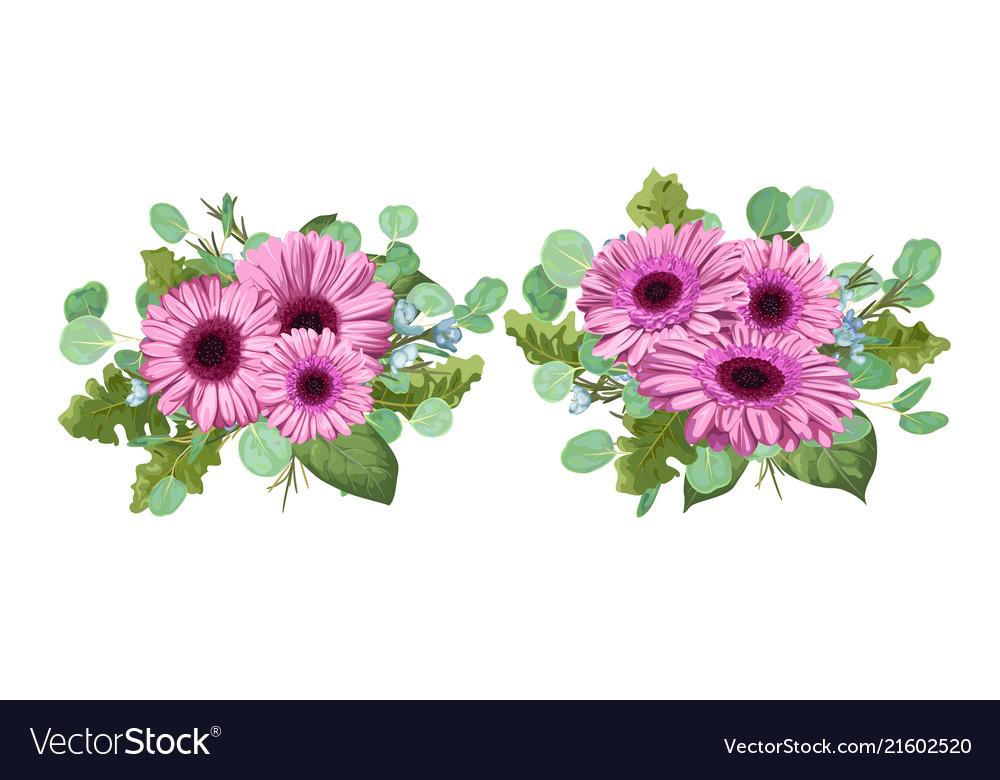 Floral bouquet set composition for wedding