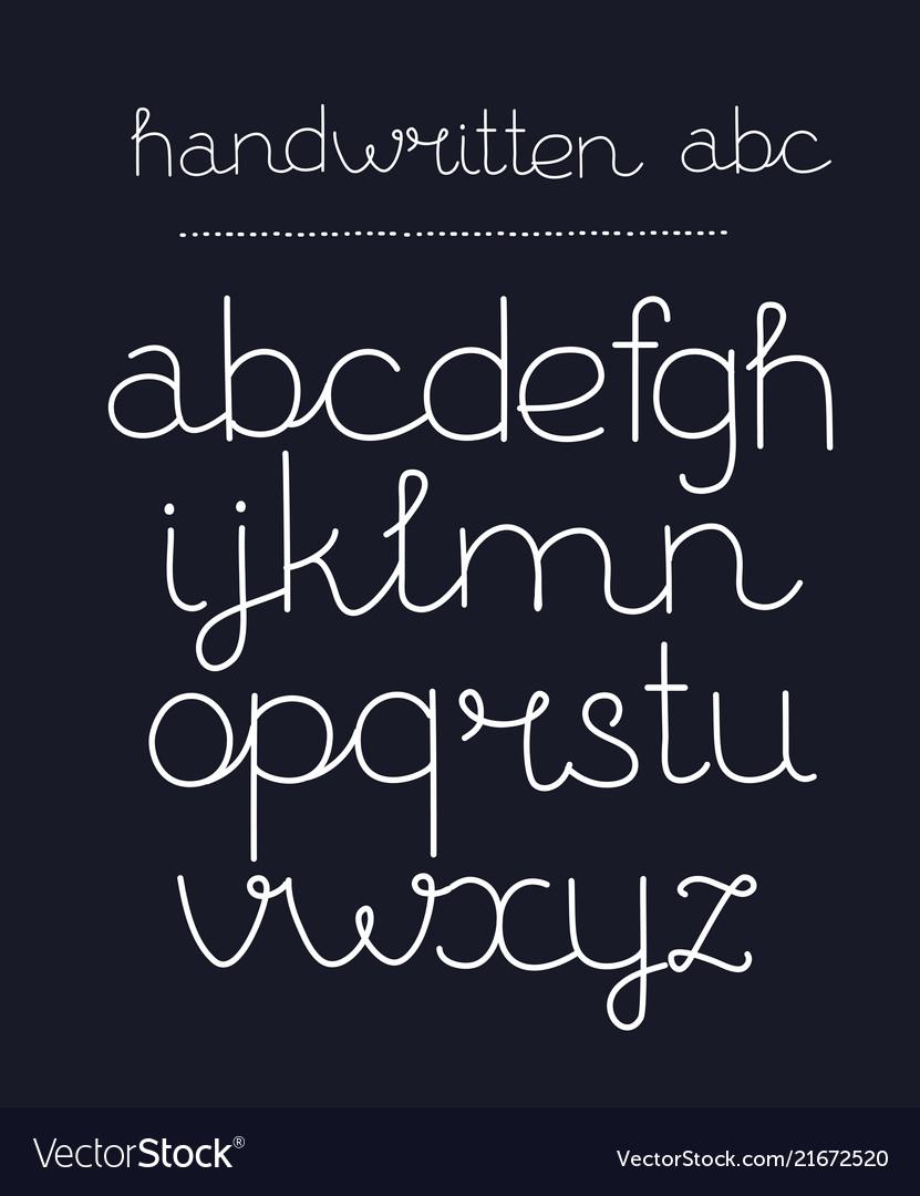 Handwritten calligraphy elegant font