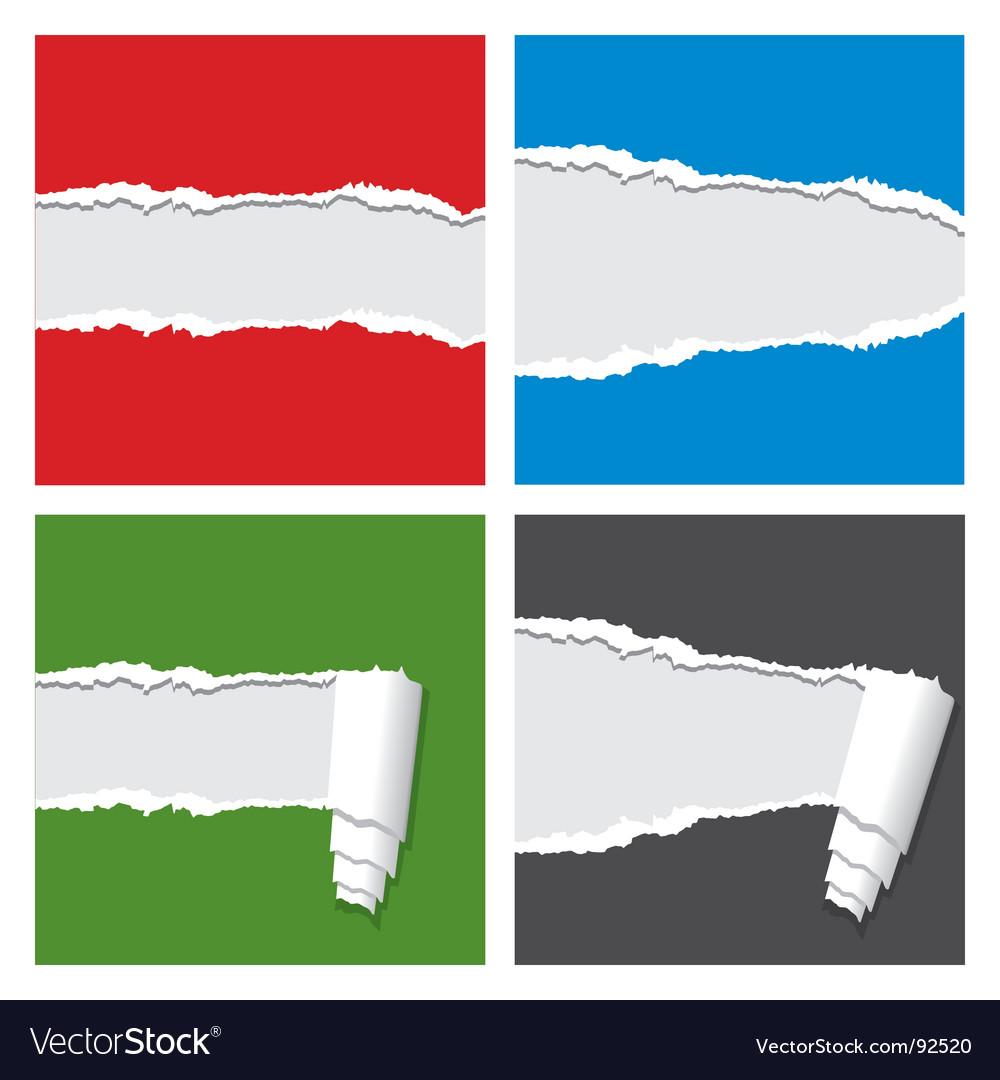 ripped paper royalty free vector image vectorstock rh vectorstock com torn paper vector free torn paper vector brush