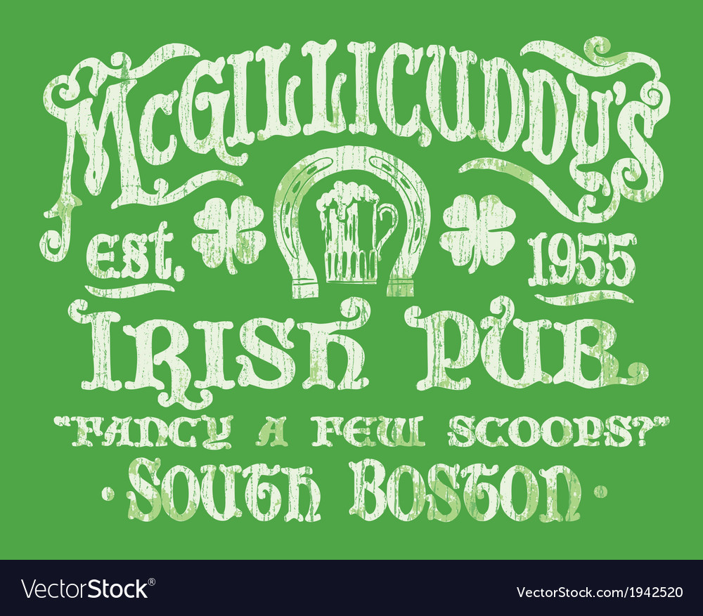 Vintage Irish Pub Sign T-shirt Graphic