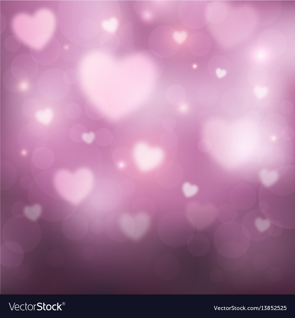 Abstract romantic pink background with hearts and