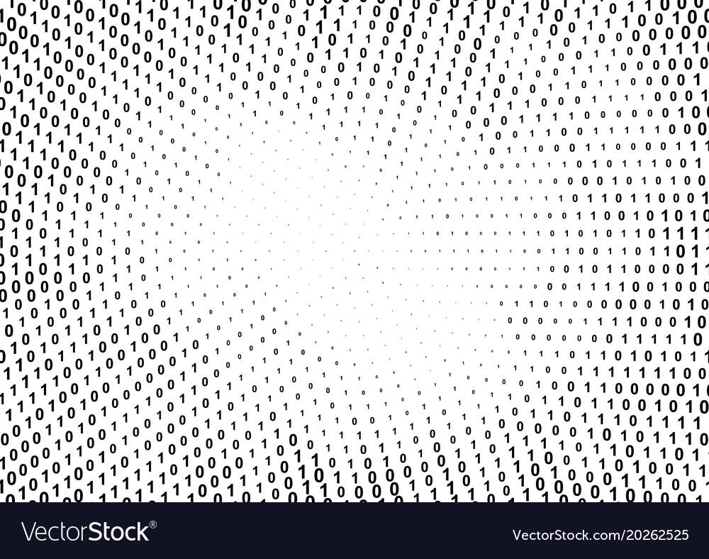 Binary computer code halftone pattern vector image
