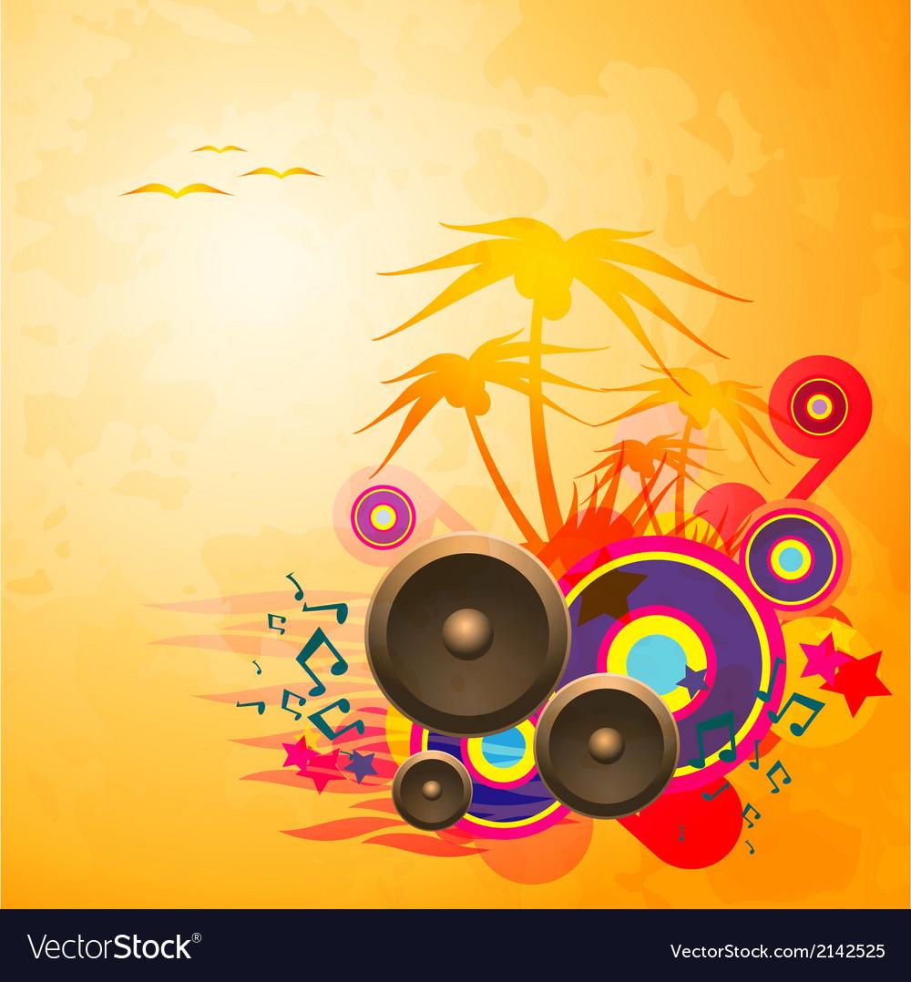 Disco Dance Tropical Music Flyer