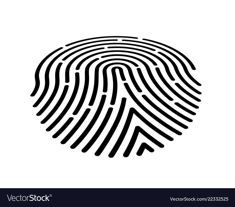 Fingerprint icon black