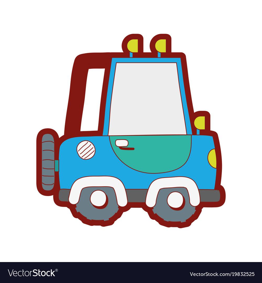 Line color tractor farm vehicle plant transport