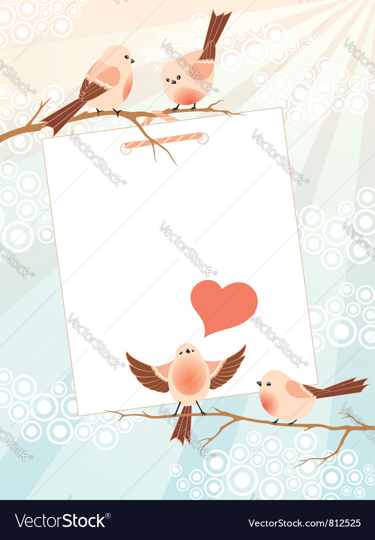 Love song frame vector image