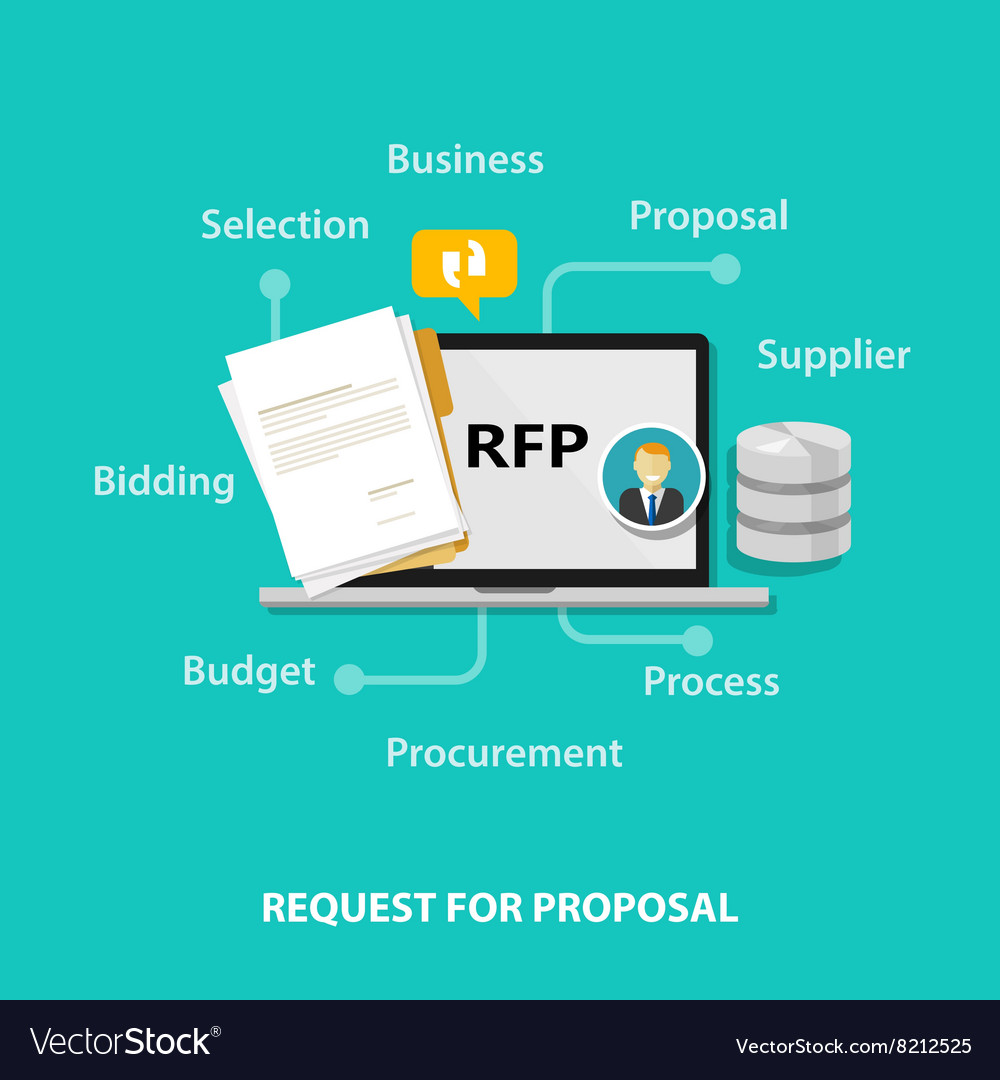 RFP request for proposal icon vector image