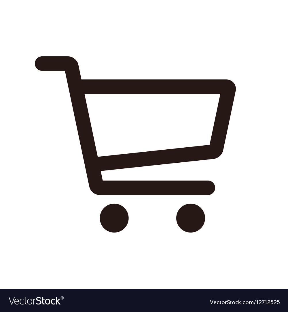 shopping cart icon royalty free vector image vectorstock rh vectorstock com shopping cart icon vector free shopping cart flat icon vector