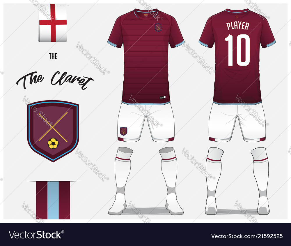 9cb51f9ab Soccer jersey or football kit template design Vector Image