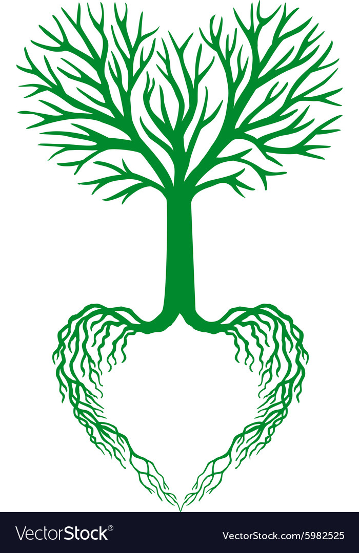 tree of life green heart tree royalty free vector image