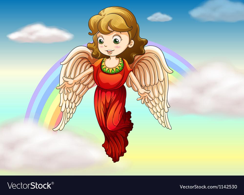 An angel and a rainbow