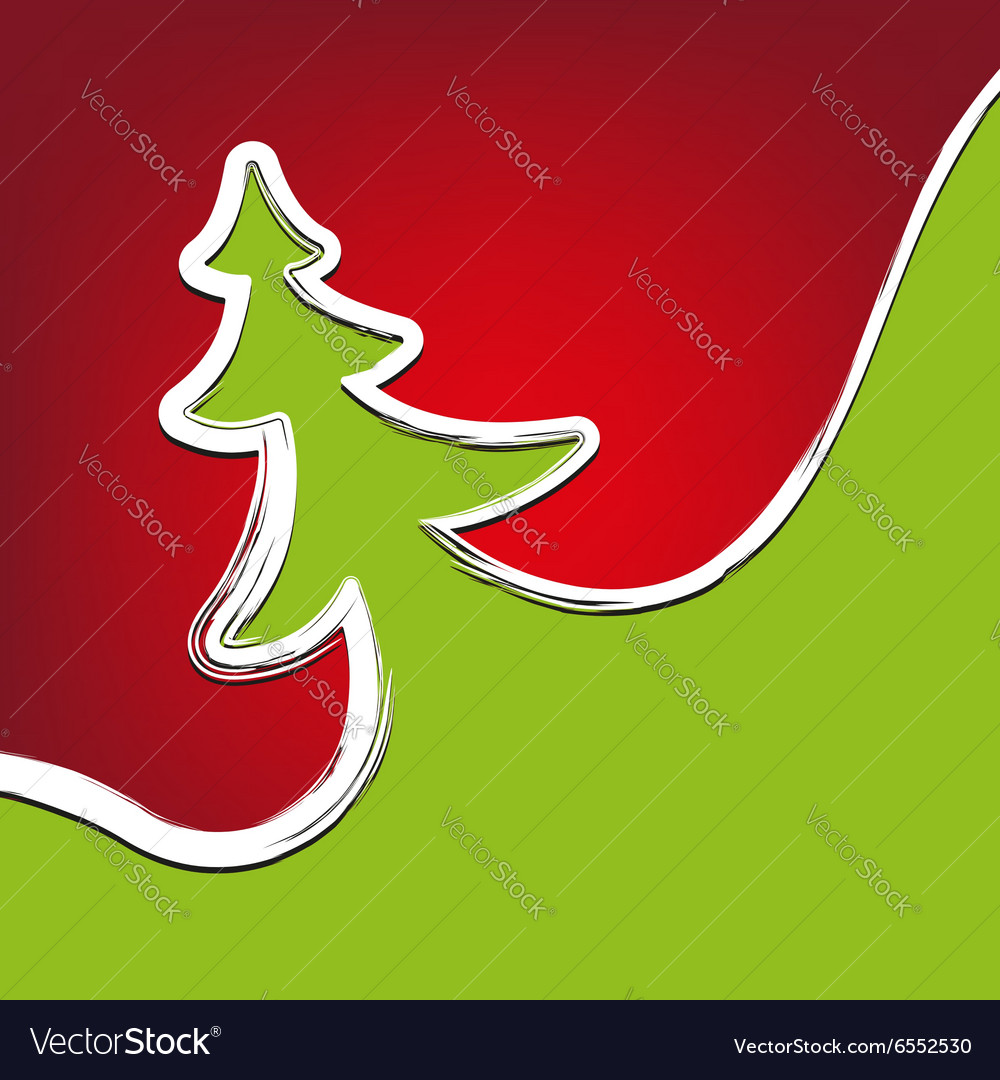 Christmas background christmas-tree strokes symbol