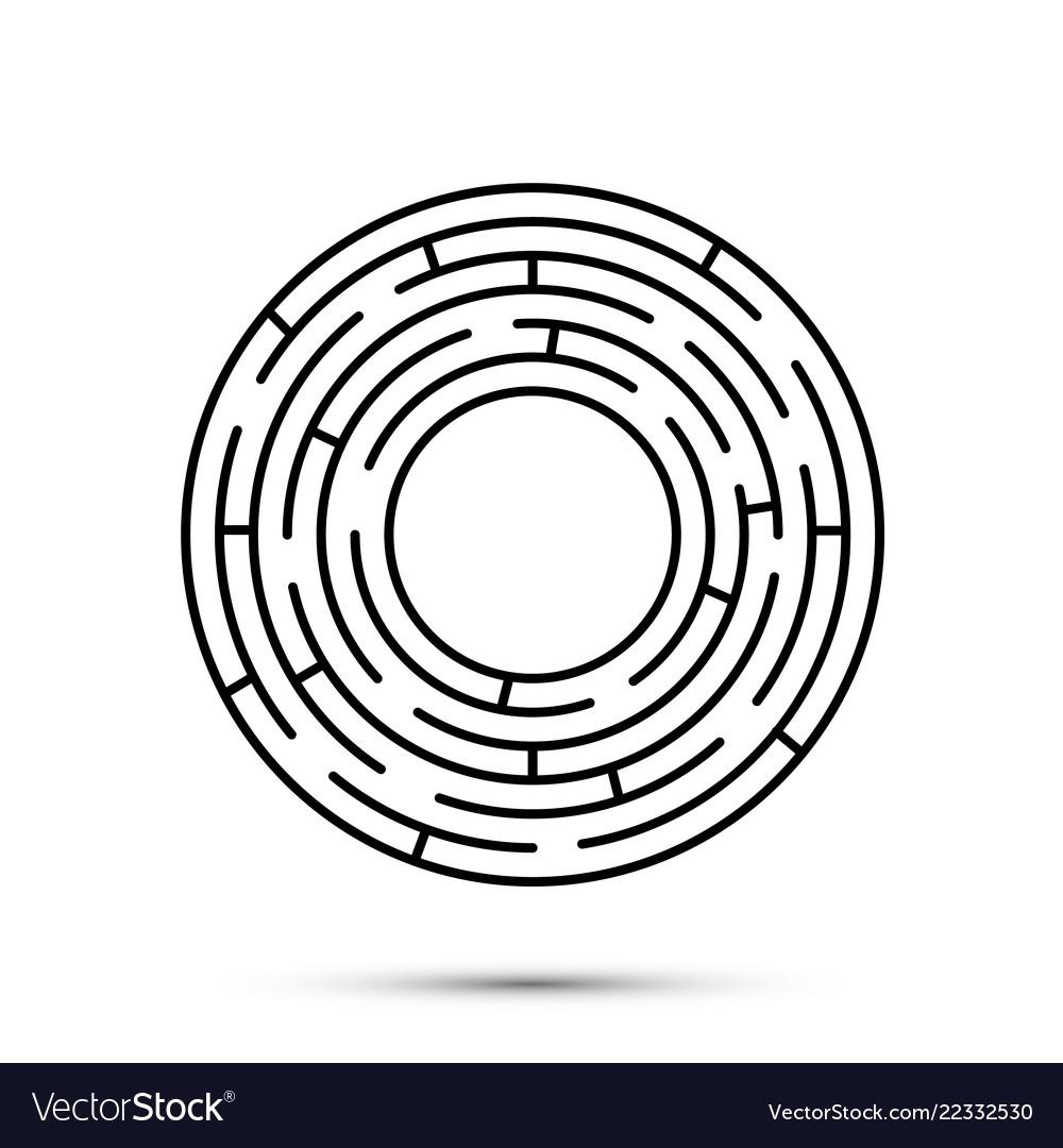 Labyrinth icon flat template design element