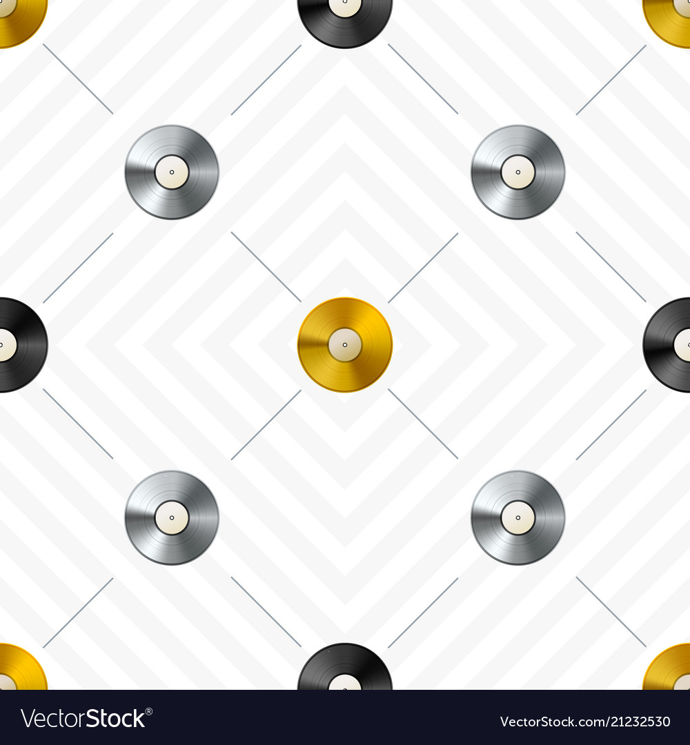 Retro seamless pattern with golden and platinum