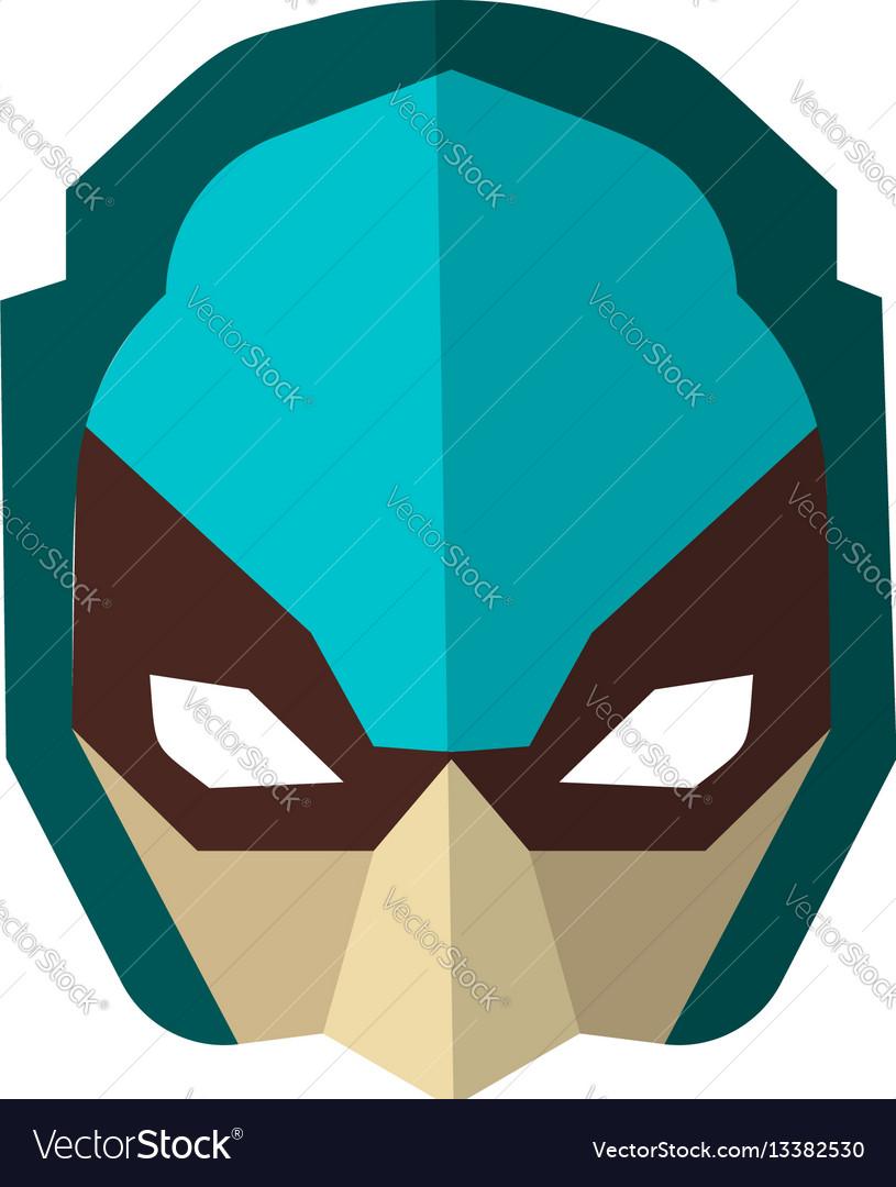 Set of super hero masks in flat style big