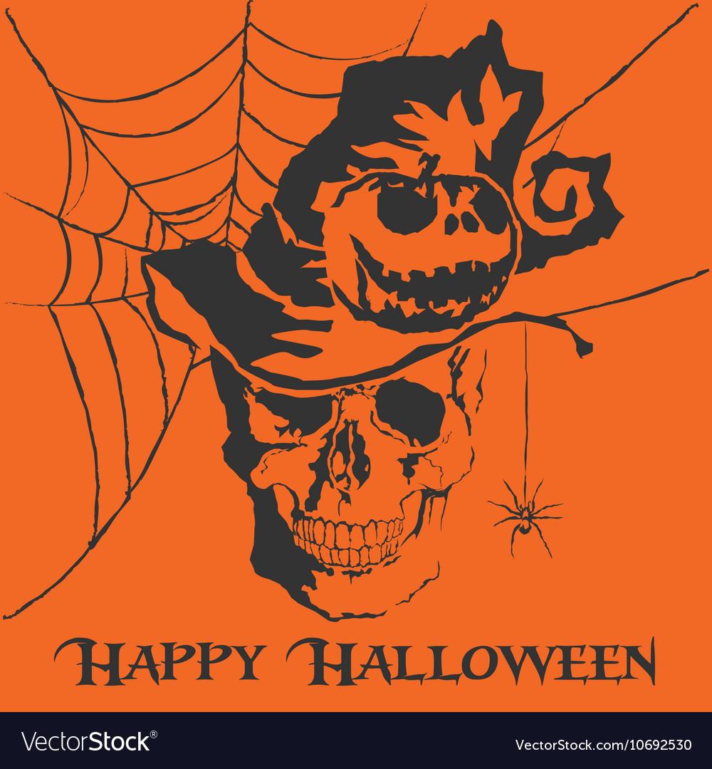 Skull Happy Halloween