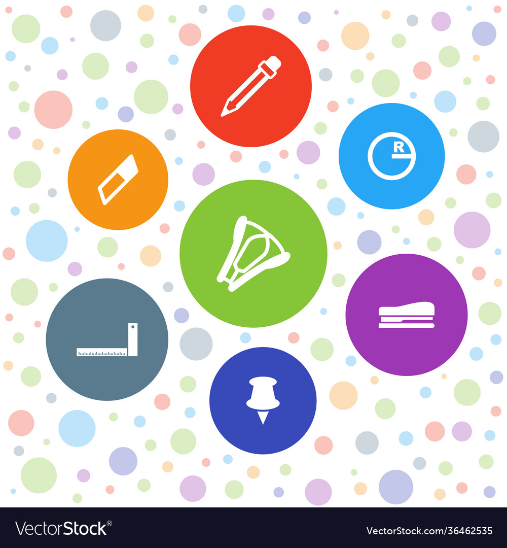 7 stationery icons