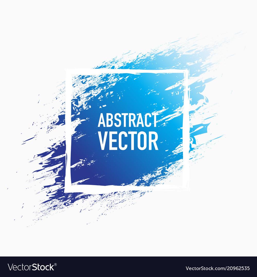 Abstract splash blue vector image