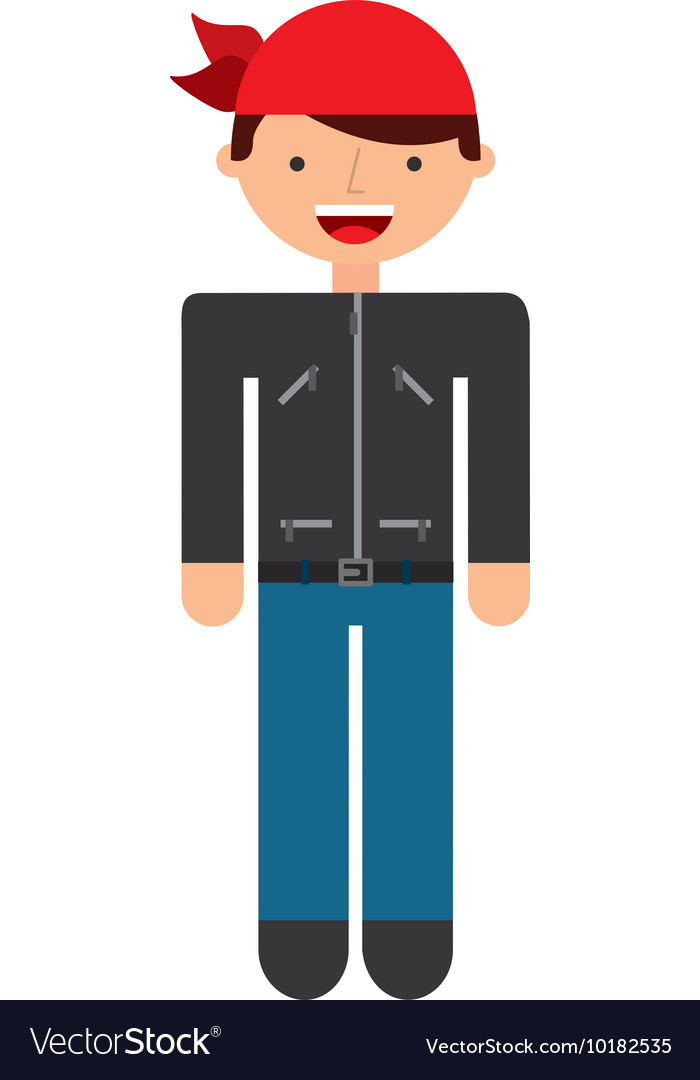 Motorcyclist avatar man icon
