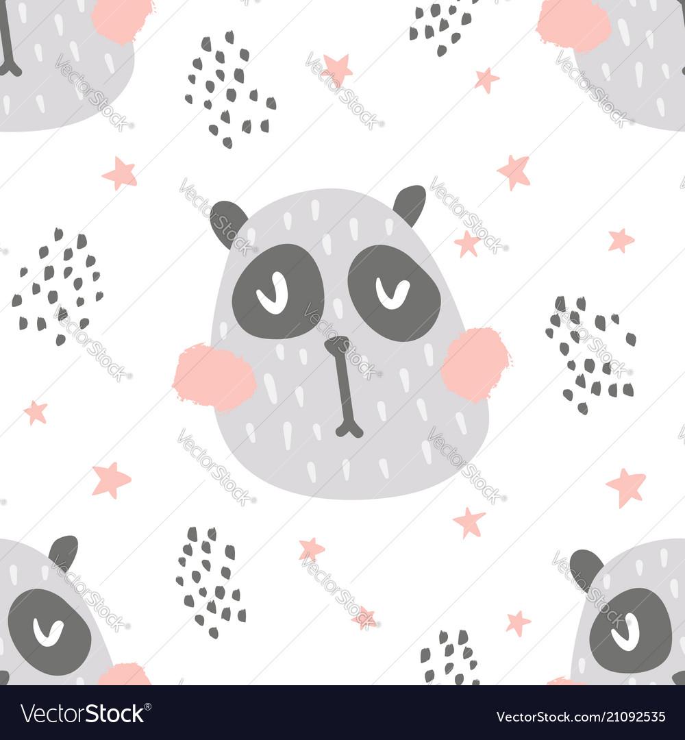 Nursery panda pattern