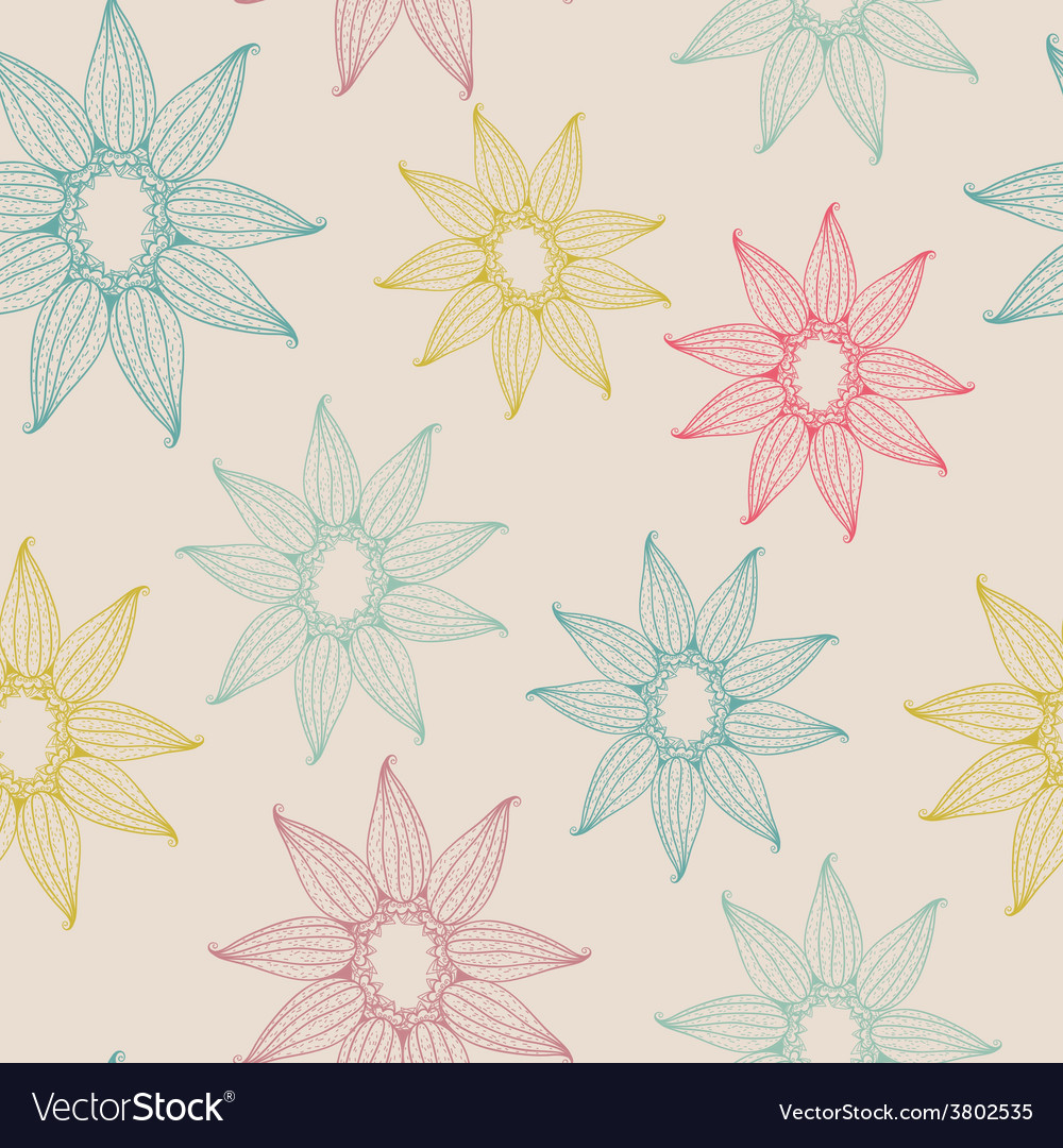 Seamless texture with abstract flower vector image