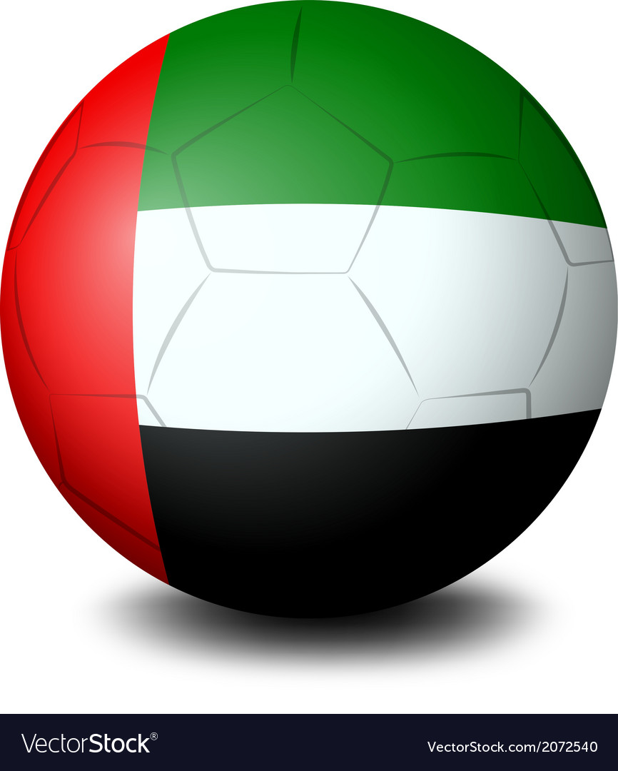 A ball with the UAE flag vector image