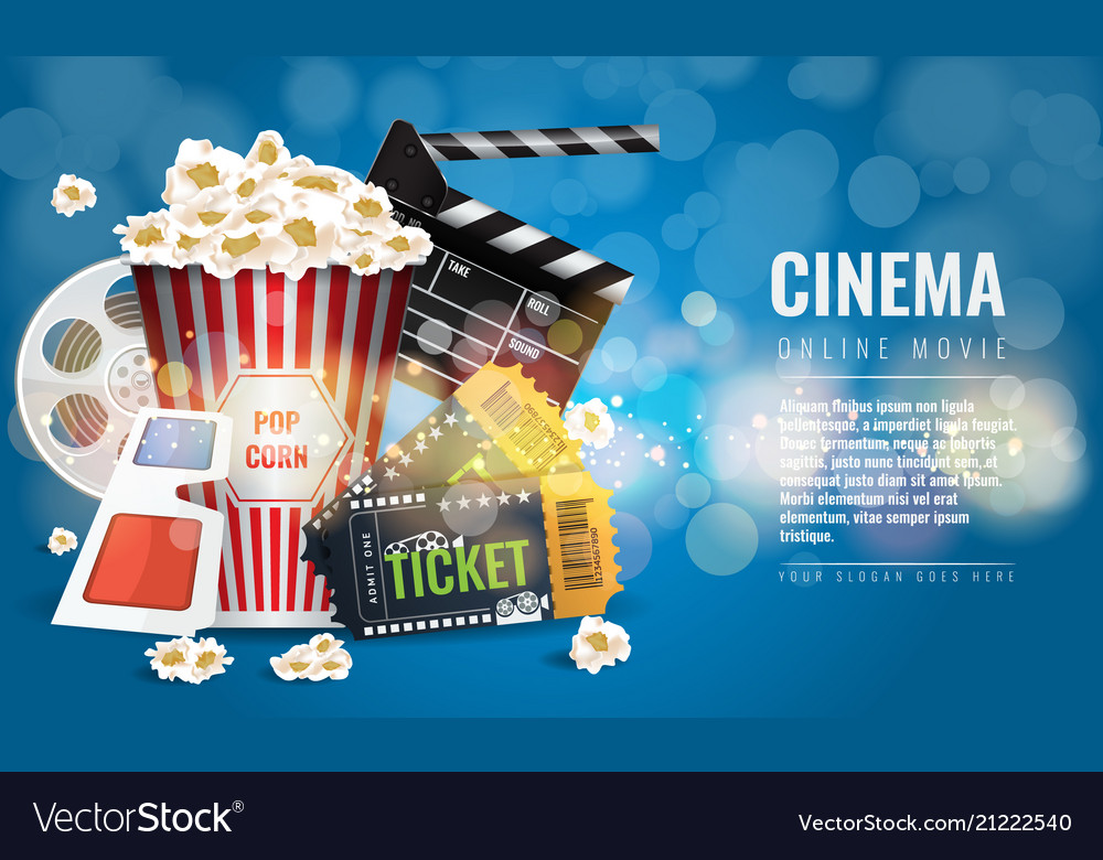 Ad layout template for the film industry elements