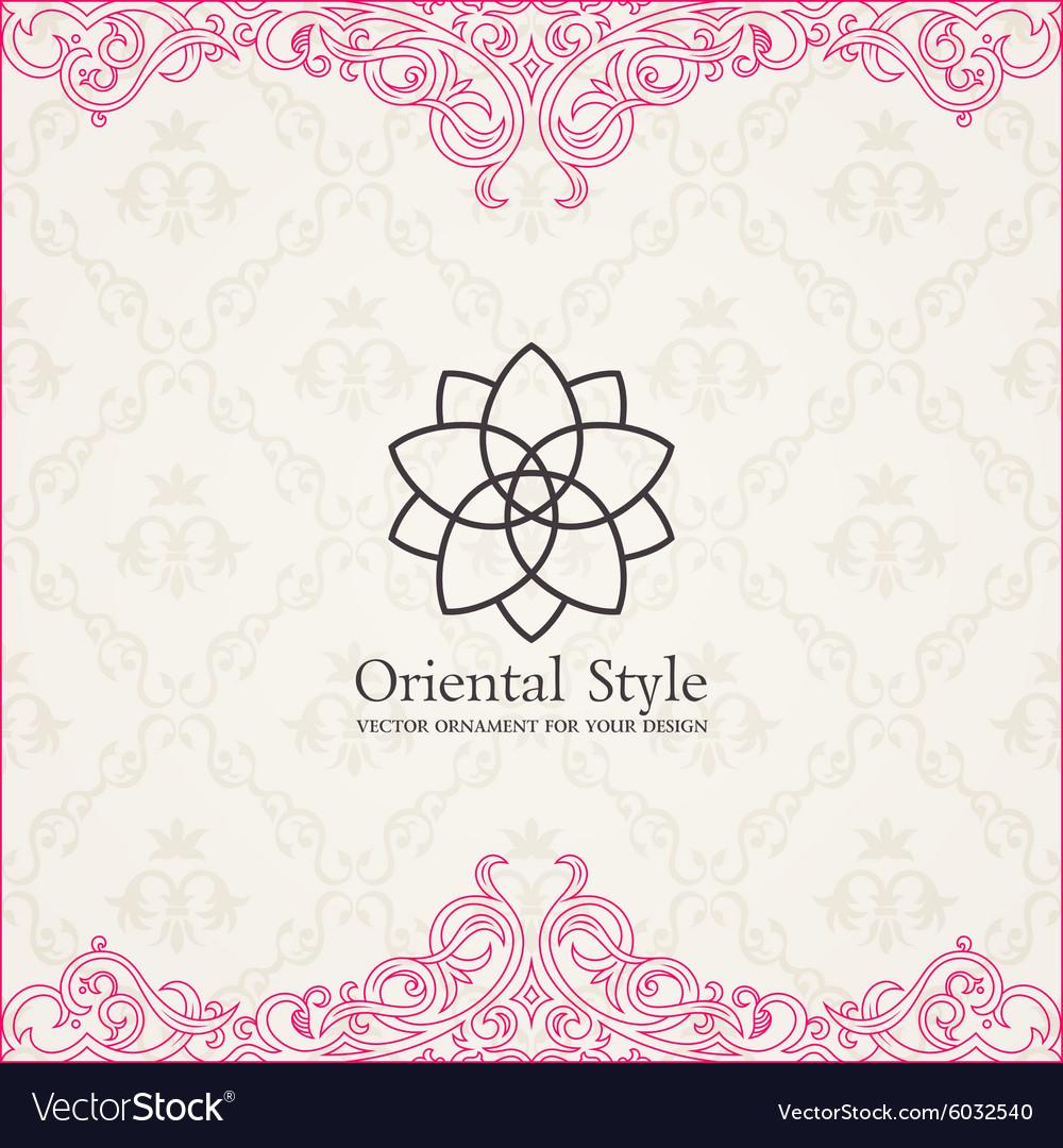 Background invitation vintage label floral frame vector image stopboris Choice Image
