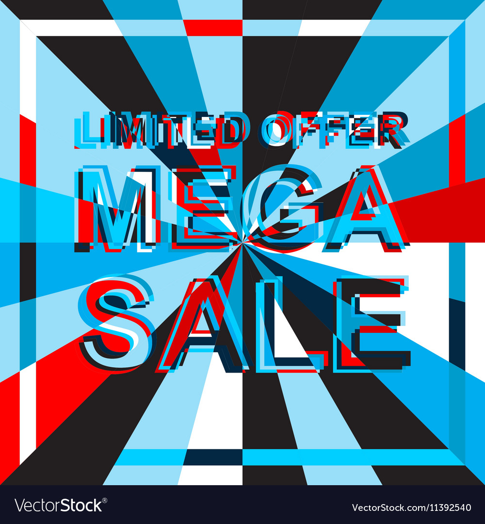 Big ice sale poster with LIMITED OFFER MEGA SALE