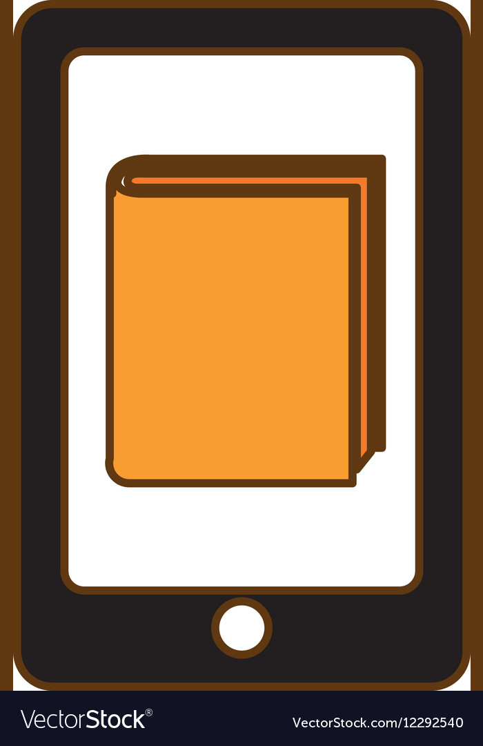 Book download and cellphone related icons image