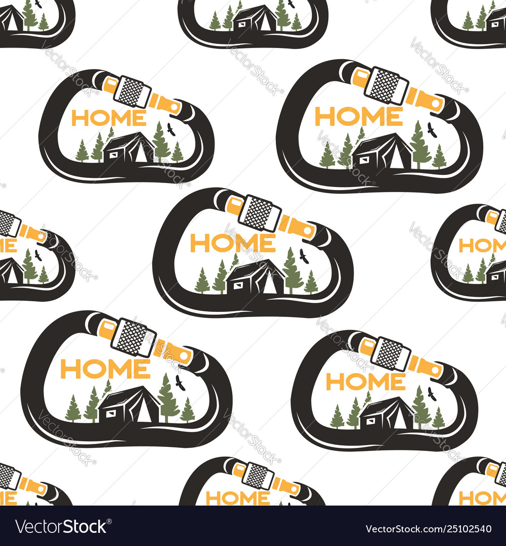 Camping pattern design with carabiner tent eagle