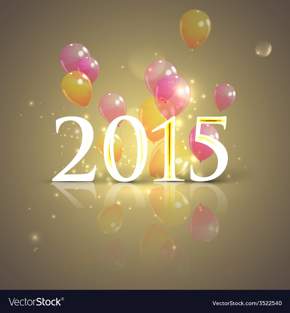 Happy new 2015 year holiday background with flying