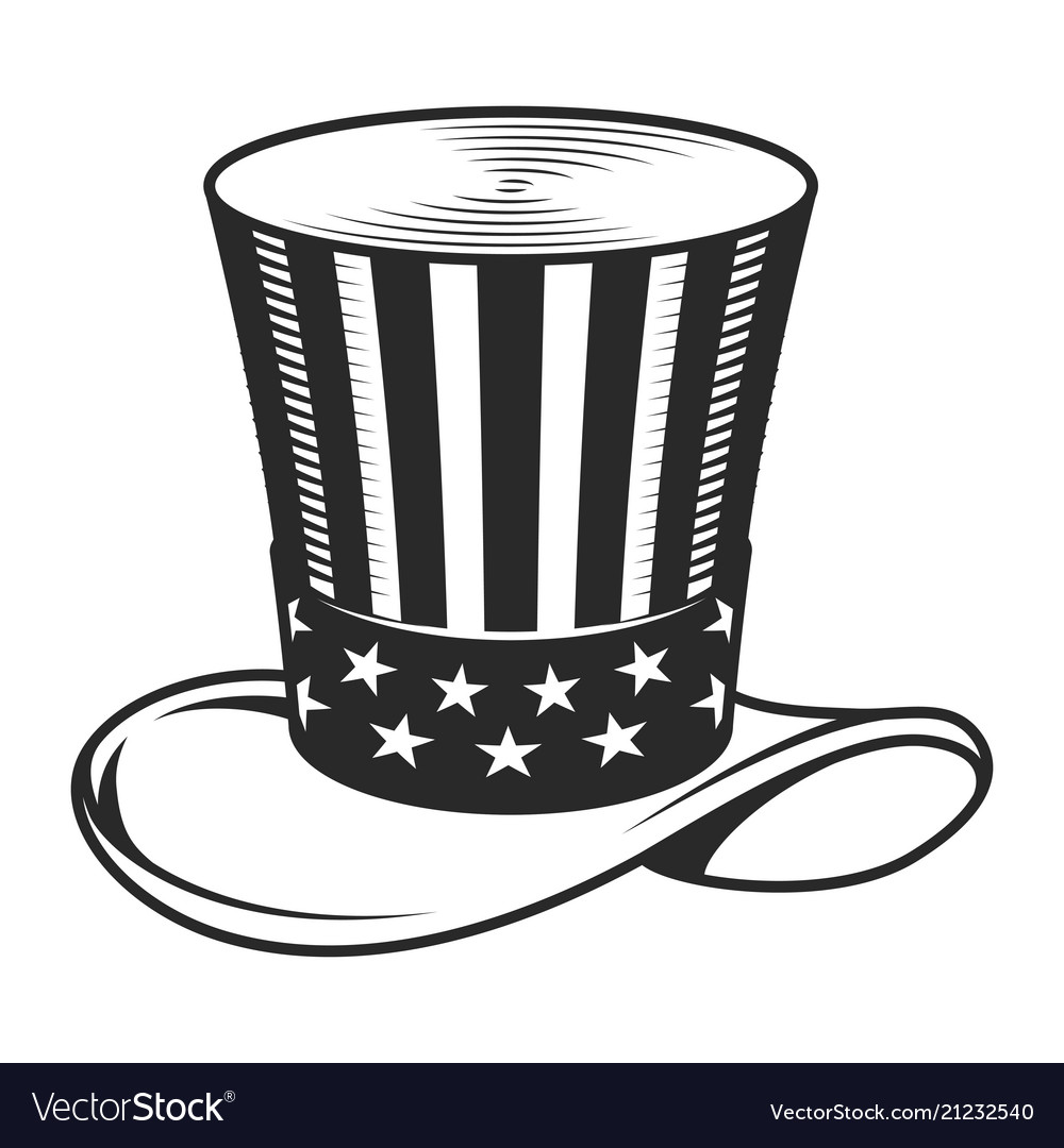 vintage uncle sam hat template royalty free vector image