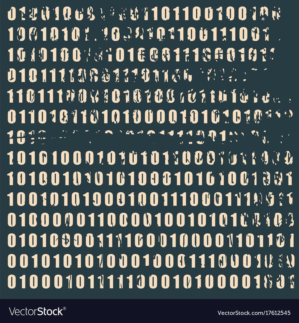 Binary code backdrop vector image