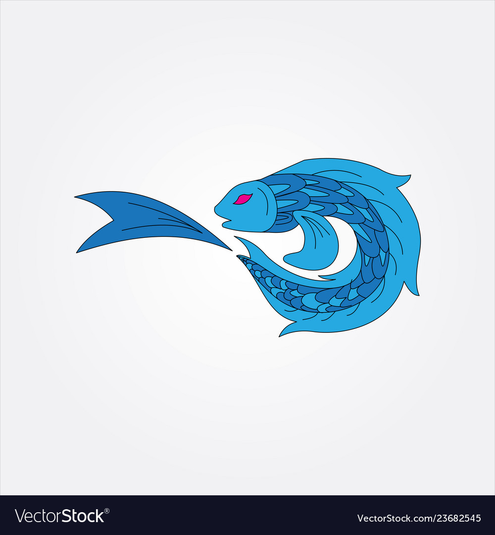 Blue fish image