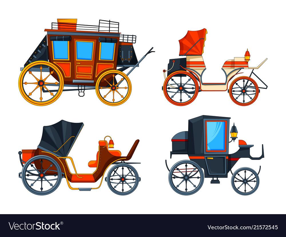 Carriage flat style set of various