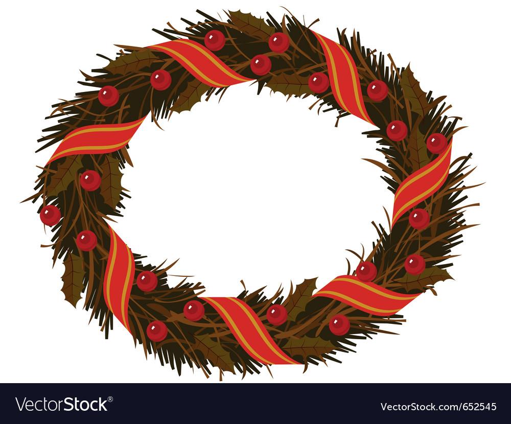 Christmas dry holly wreath