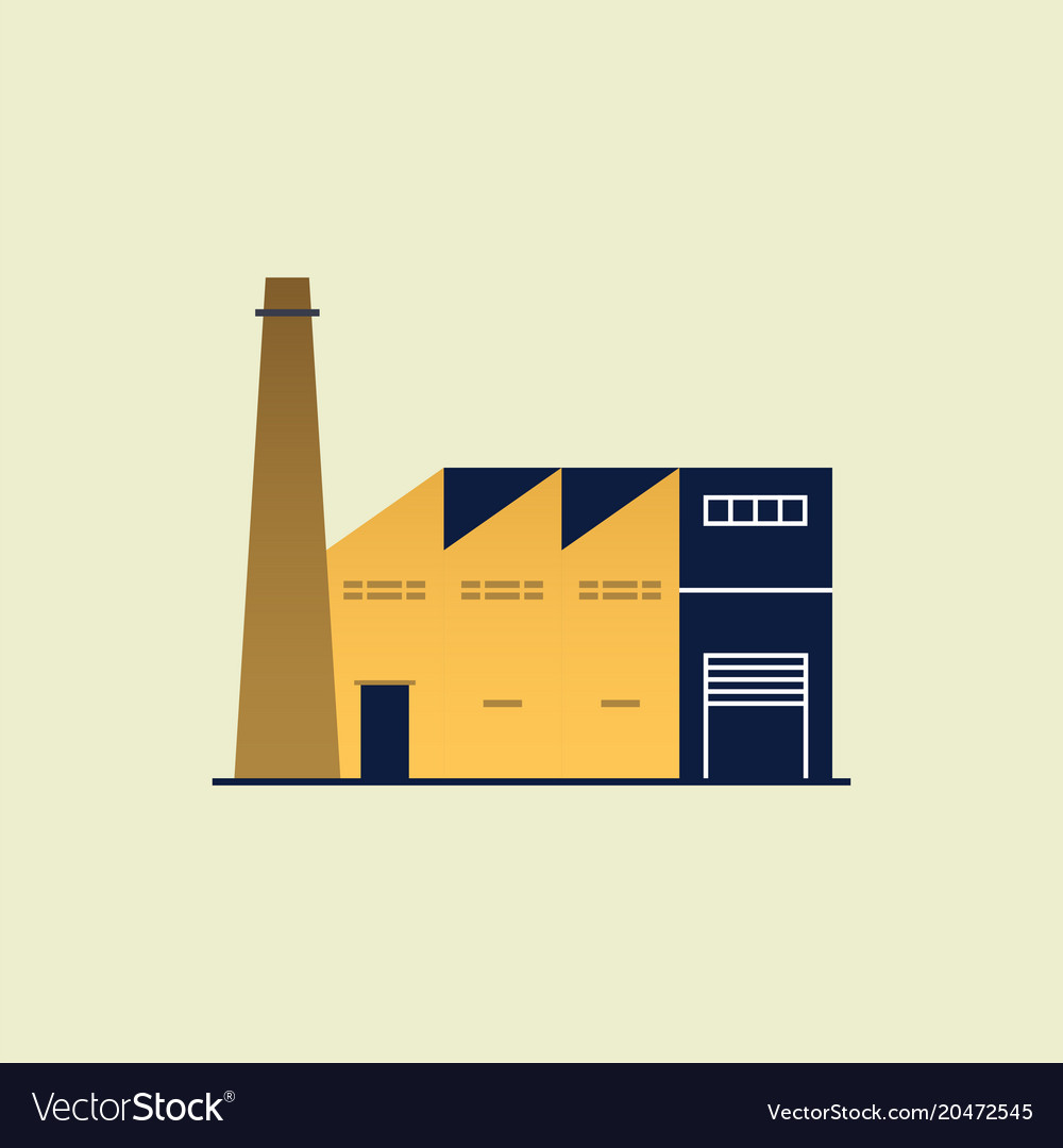 Factory or industrial building icon