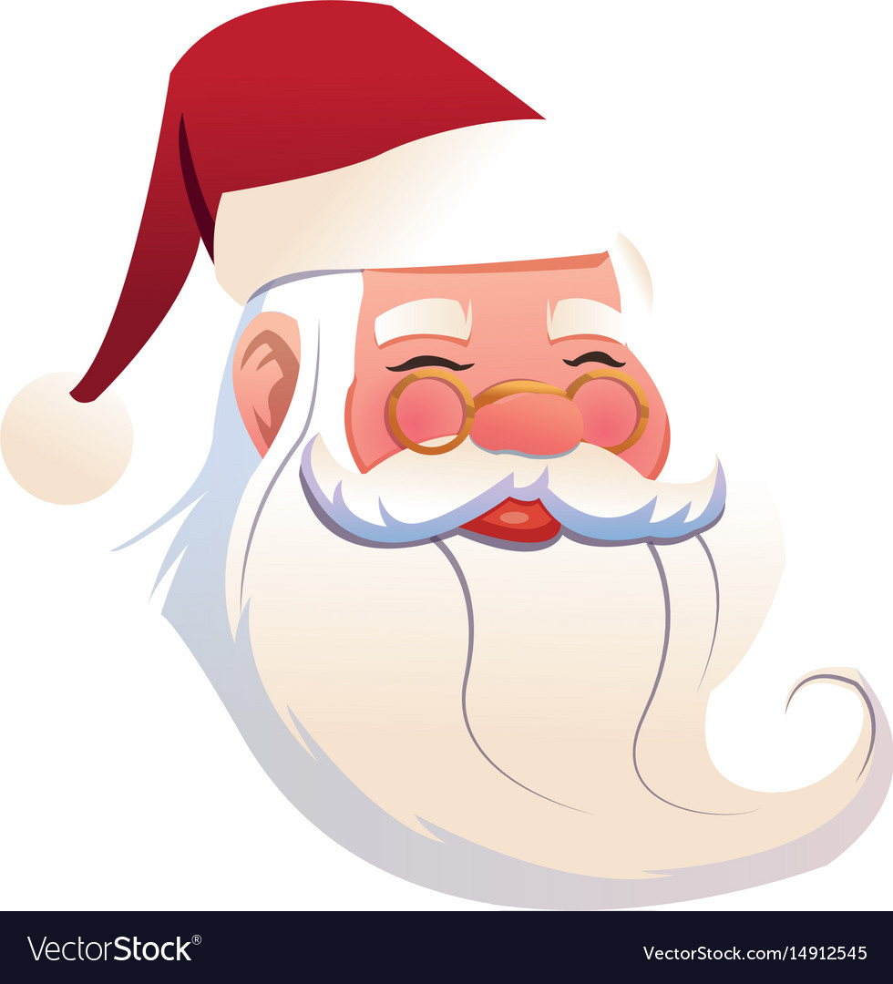 Funny face santa claus christmas celebration image