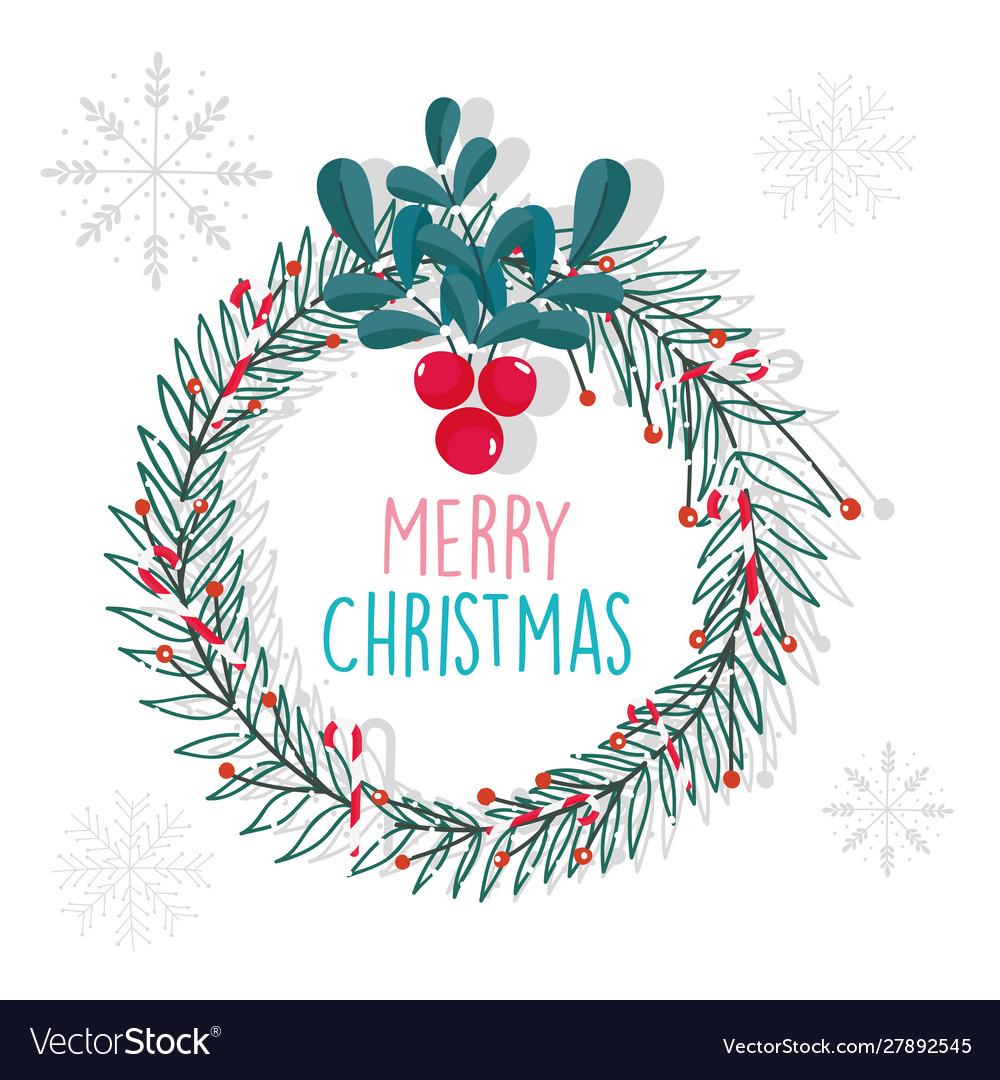 Merry christmas celebration decoration wreath