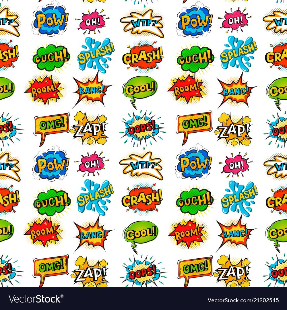 Pop art comic speech bubble boom effects