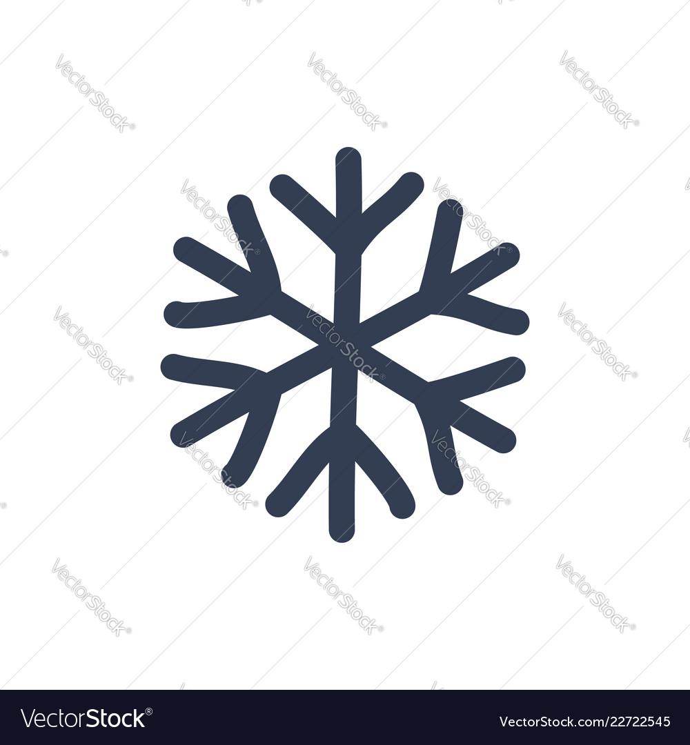 Snowflake icon black silhouette snow flake sign